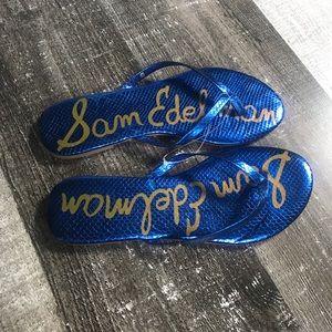 Blue Sam Edelman Oliver Flip Flop Sandals